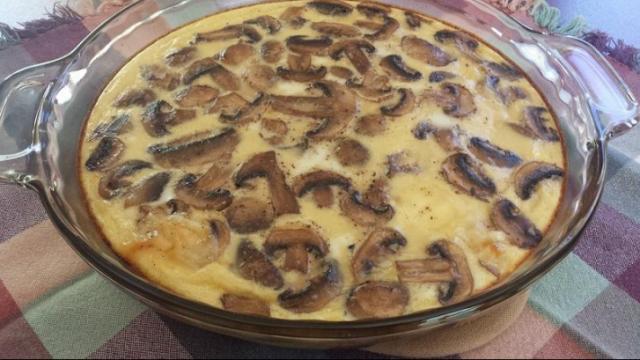 Mushroom and Swiss Crustless Quiche