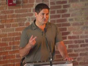 Mark Cuban spoke to entrepreneurs Thursday in Durham.