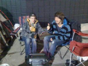 The first people in line outside the Best Buy store in Garner said they had been there since 9:30 p.m. Wednesday, Nov. 25, 2010.