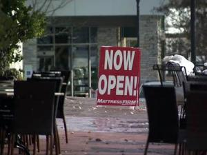 Stores at Cameron Village in Raleigh were slow to open on Dec. 27, 2010, a day after a snowstorm cut into after-Christmas shopping.