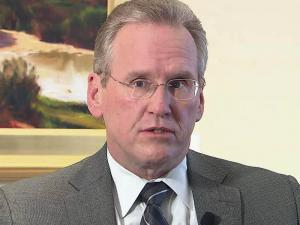 Progress Energy CEO Bill Johnson served as chief executive of Duke Energy for less than an hour before he was forced to resign after the Charlotte-based utility acquired Raleigh-based Progress.