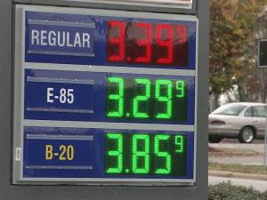 Crown Express Mart, at 1210 New Bern Ave., is the first place in Raleigh to have both B20 and E85 at its pumps.