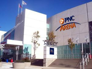 An artist's rendering of PNC Arena in Raleigh