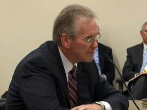 Former Progress Energy Chief Executive Bill Johnson testifies to the N.C. Utilities Commission on July 19, 2012, about his ouster from Duke Energy after Duke and Progress merged.
