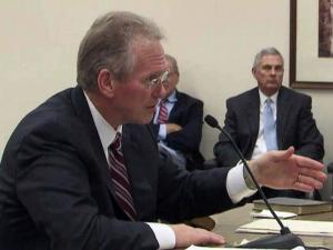 Former Progress Energy CEO Bill Johnson tells the N.C. Utilities Commission on July 19, 2012, why he was suddenly forced out as president and CEO of Duke Energy Corp. after the two utilities merged.
