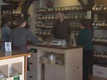 Customers at Savory Spice in Lafayette Village get personal service.