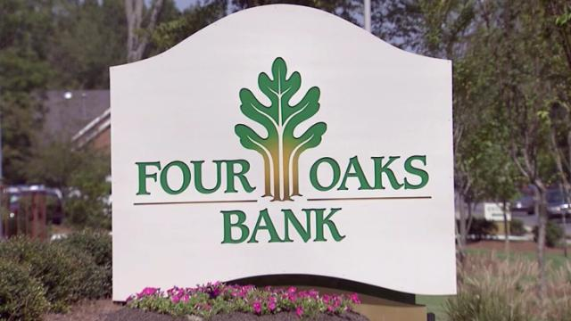 Four Oaks Bank sign