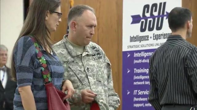 Congresswoman Renee Ellmers was on hand for the fourth annual Hire-a-Vet job fair.