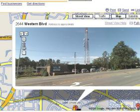 The WRAL studios as seen in Google Maps Street View.