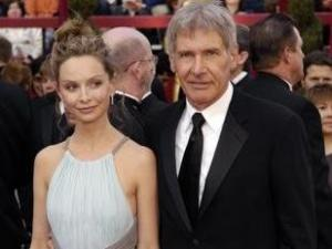 Harrison Ford and his fiance actress Calista Flockhart arrive at the 80th Academy Awards at the Kodak Theatre in Los Angeles, Sunday, Feb. 24, 2008. (AP Photo/Chris Pizzello)