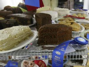 A chocolate cake took the blue ribbon in a teen 4-H category at the 2008 N.C. State Fair.