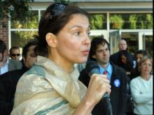 Actress Ashley Judd appeared at several colleges in North Carolina on Oct. 30, 2008 to promote early voting. She was alongside Valerie Biden Owens, the sister of Democratic vice presidential nominee Joe Biden.