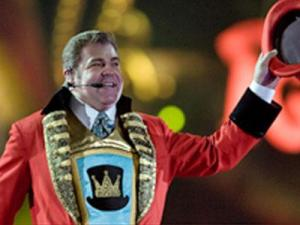 Chuck Wagner, ringmaster for the Ringling Bros. and Barnum and Bailey circus. (Image from Ringling.com)