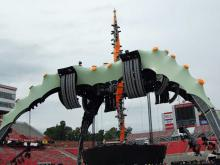 Crews prepared Carter-Finley stadium in Raleigh on Oct. 2, 2009 for the U2 concert.