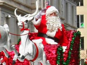 The arrival of Santa was the highlight of the 2009 WRAL-TV Raleigh Christmas Parade.