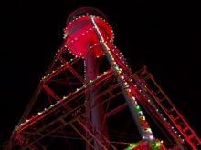 Durham lights Lucky Strike tower
