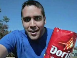 "A thumbnail image from the Doritos Super Bowl commercial finalist ""Underdog."""