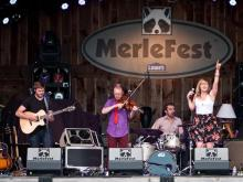 """Crowds gather Thursday on the campus of Wilkes Community College in Wilkesboro, North Carolina for the 23rd year of MerleFest.  Founded in 1988 in memory of Eddy Merle Watson as a fundraiser for Wilkes Community College and a celebration of """"traditional plus"""" music, Merlefest draws musicians and fans from around the country."""