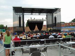 A view from the seats at the Raleigh Amphitheater.