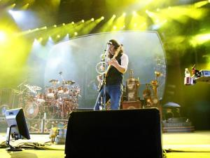 Rush performed Saturday night at the Greensboro Coliseum in Greensboro, N.C. Pictured here is lead vocalist Geddy Lee.