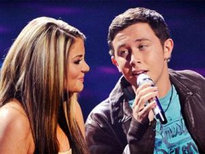 "Lauren Alaina and Scotty McCreery on ""American Idol."" Image from Americanidol.com."