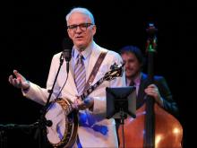 Steve Martin and The Steep Canyon Rangers (of Chapel Hill) play bluegrass music for a sold-out audience at the Durham Performing Arts Center on Saturday, May 21.