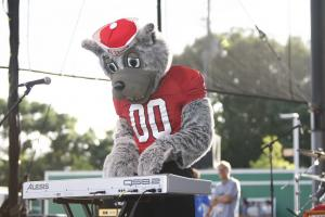 The musical stylings of Mr. Wuf during the Rise Up Raleigh benefit concert on June 3, 2011 at the downtown Raleigh Amphitheater.