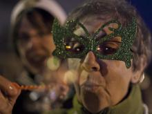 A look at the Mardi Gras celebration in Durham on Feb. 21, 2012.