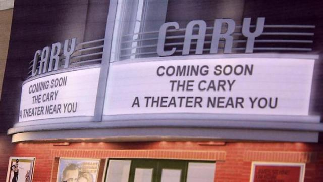 The Town of Cary broke ground Saturday on an 18-month renovation project to reopen the town's first indoor movie theater.