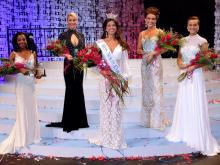 The five finalists in the Miss North Carolina 2013 competition in Raleigh.