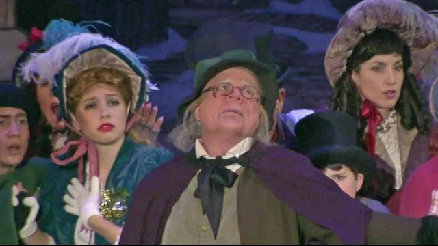 "Ira David Wood is Scrooge in ""A Christmas Carol."""