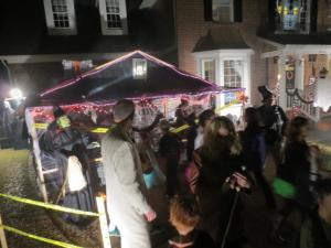 Twins Chris and Kelly Edwards built a 400-square-foot haunted house in their driveway in North Raleigh.