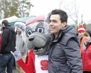 The 2015 Polar Plunge took place at Lake Raleigh on NC State's Centennial Campus in Raleigh on Saturday, February 21, 2015. The event raised money for the Special Olympics. (Photo by Christine Adamczyk.)