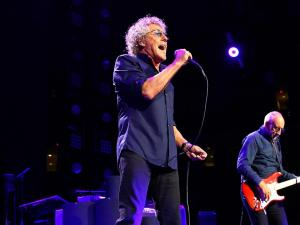 The Who Hits 50! On the first leg of their U.S. Tour visit PNC Arena on Tuesday April 21, 2015 in Raleigh N.C. Drawing from early classics, Roger Daltrey, Pete Townsend and the band got the crowd on their feet from the first song and kept them rocking all night. (Chris Baird / WRAL Contributor).