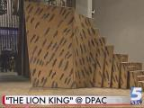 Set pieces arrive for 'Lion King' run