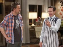 "Matthew Perry, left, is Oscar Madison and Thomas Lennon is Felix Unger in the latest TV revival of Neil Simon's ""The Odd Couple,"" now on DVD. (Deseret Photo)"