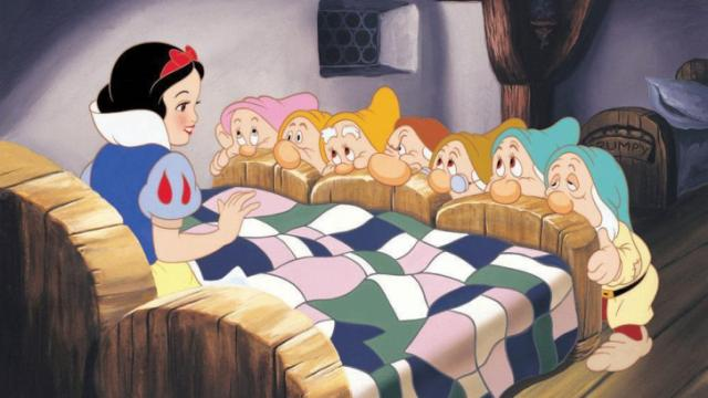 """Snow White is surprised by the diamond miners that have taken her in, in """"Snow White and the Seven Dwarfs."""" The Hollywood Reporter recently announced that Disney is working on a movie about Snow White's sister, Red Rose. (Deseret Photo)"""