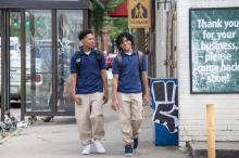 """Diallo Thompson stars as Kenny and Michael Rainey Jr. as Jalen in """"Barbershop: The Next Cut."""" (Deseret Photo)"""
