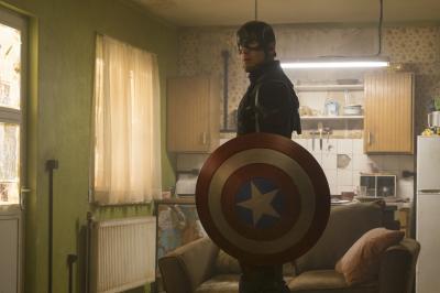 Marvel's Captain America: Civil War  Captain America/Steve Rogers (Chris Evans)  Photo Credit: Zade Rosenthal  © Marvel 2016 (Deseret Photo)