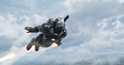 "Don Cheadle as War Machine/James Rhodes in Marvel's ""Captain America: Civil War."" (Deseret Photo)"