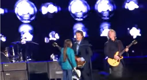 One young rock fan lived out the dream of jamming with one of the most famous musicians still alive today after the 10-year-old girl from Argentina went on stage and asked Paul McCartney if she could play bass with him. (Deseret Photo)