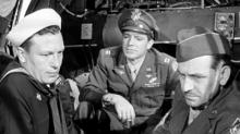 """From left, a sailor (Harold Russell), an Army Air Corps pilot (Dana Andrews) and an Army sergeant (Fredric March) meet on a plane as they return home at the end of World War II in the classic """"The Best Years of Our Lives"""" (1946). (Deseret Photo)"""