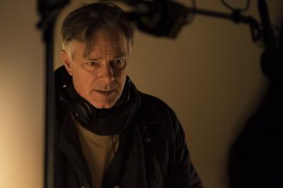 """Whit Stillman on the set of """"Love & Friendship."""" (Deseret Photo)"""