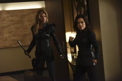 Ming-Na Wen and Adrianne Palicki in Agents of S.H.I.E.L.D. in 2013. (Deseret Photo)