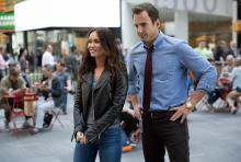 """Megan Fox, left, as April O'Neil and Will Arnett as Vernon Fenwick in """"Teenage Mutant Ninja Turtles: Out of the Shadows."""" (Deseret Photo)"""