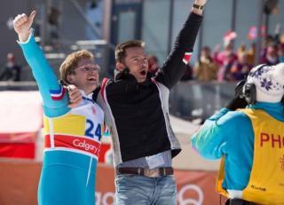 """Taron Egerton and Hugh Jackman star in """"Eddie the Eagle,"""" a true underdog sports story now on Blu-ray and DVD. (Deseret Photo)"""