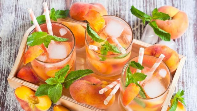 You can pour summer into your cocktail glass with this recipe for a Peach Mule.