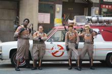"Ghostbusters Patty Tolan (Leslie Jones), Abby Yates (Melissa McCarthy), Erin Gilbert (Kristen Wiig) and Jillian Holtzmann (Kate McKinnon) in Columbia Pictures' ""Ghostbusters."" (Deseret Photo)"