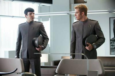 """Zachary Quinto as Mr. Spock, left, and Chris Pine as Capt. Kirk, lead the cast of """"Star Trek Beyond,"""" which opens in theaters July 22. (Deseret Photo)"""