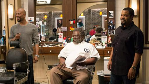 "Common, left, Cedric the Entertainer and Ice Cube star in ""Barbershop: The Next Cut,"" now on Blu-ray and DVD. (Deseret Photo)"